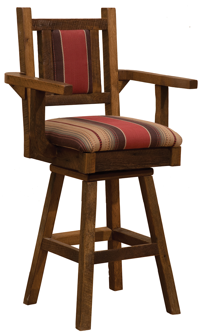 Swivel Counter Stool With Back And Arms Fireside Lodge Furniture